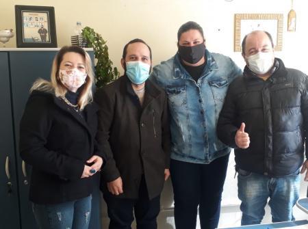 Vereadora recebe visita dos assessores da deputada estadual Juliana Brizola